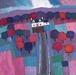 House in the Trees by David Body -  sized 24x24 inches. Available from Whitewall Galleries
